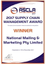 2017-ASCLA-Supply-Chain-Management-Winner's-Certificate
